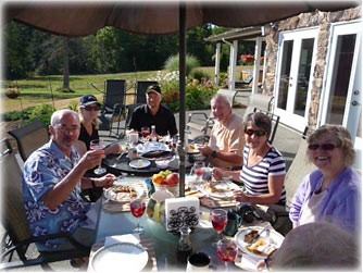 Breakfast at Two Eagles Lodge B&B - 6409 Old Island Highway Union Bay, BC on Vancouver Island
